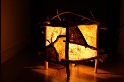 画像3: 流木ランプ009