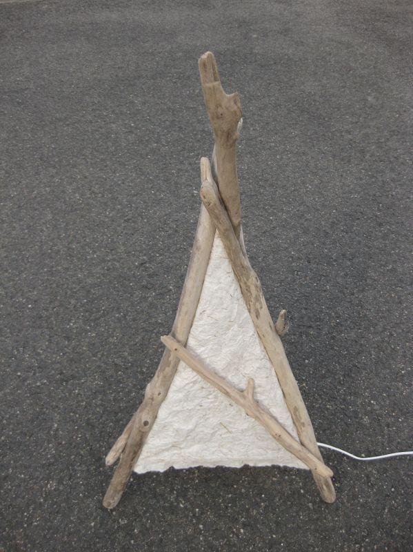 流木ランプ1