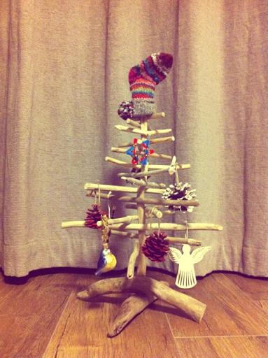 流木クリスマスツリー2